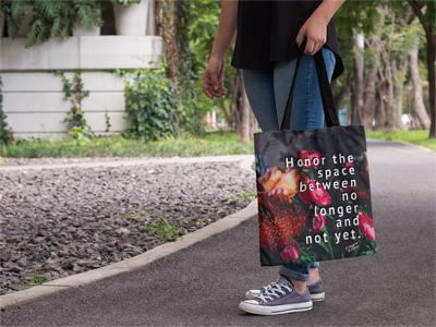 Honor the Space Between No Longer and Not Yet - Tote Bag