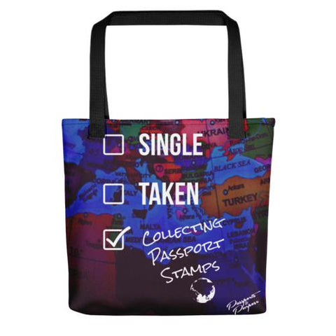 Single, Taken, Collecting Passport Stamps - Tote Bag
