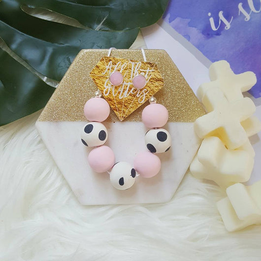'Pastel Clash' Munchkin Necklace handmade clay polymer jewellery accessories