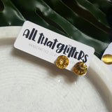 Circle Gold Glitter Bomb Ear Bling handmade clay polymer jewellery accessories