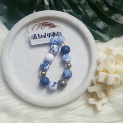 'Blue Jeans' Necklace handmade clay polymer jewellery accessories