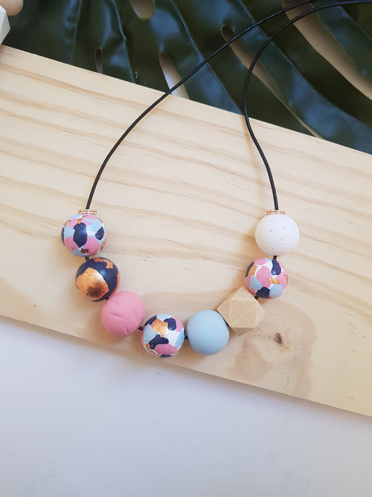'Get Speckled' Navy Pink Range handmade clay polymer jewellery accessories
