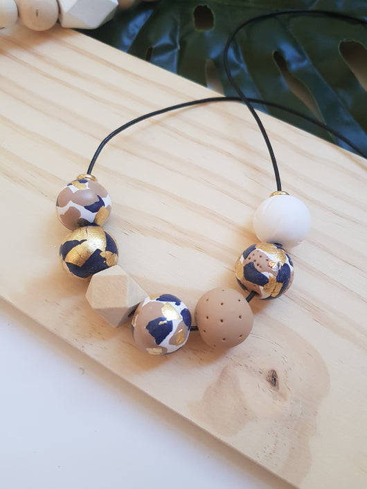 'Get Speckled' Navy Tan Range handmade clay polymer jewellery accessories