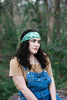 Kale Green Tropical Leaves Headband