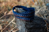 Brilliant Bears / Solid Navy Reversible Wrap Bracelet