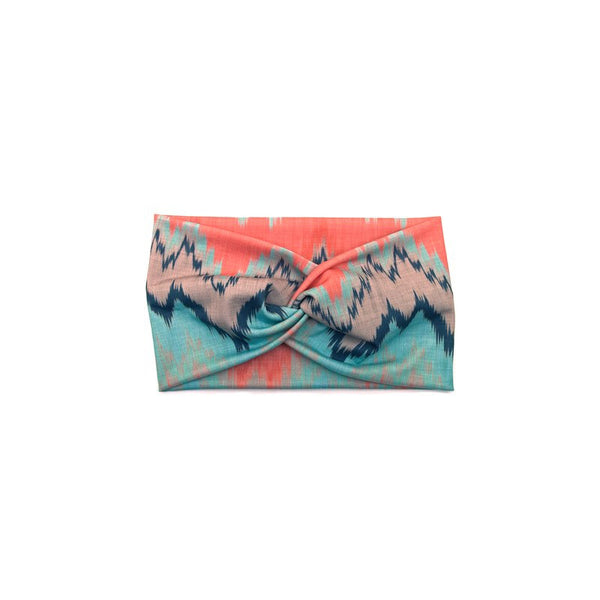 Coral & Mint Chevron Headband