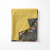 ALMOST PERFECT: Festive Floral / Mustard Maze Blanket Towel