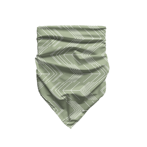 Abstract Arrows - Sage Green - Bandana
