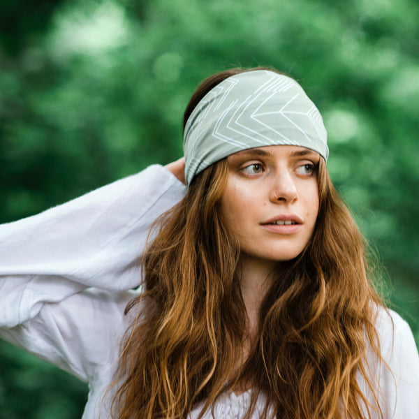 Abstract Arrows - Sage Green Headband
