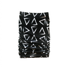 Black & White Brushed Triangles Tube