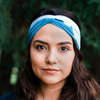Blue Faded Tree Line Headband