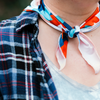 Burnt Orange, Tan, & Teal Abstract Bandana
