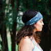 Dark Gray Tiny Camp Tents Headband