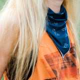 Navy Tiny Campsites Bandana