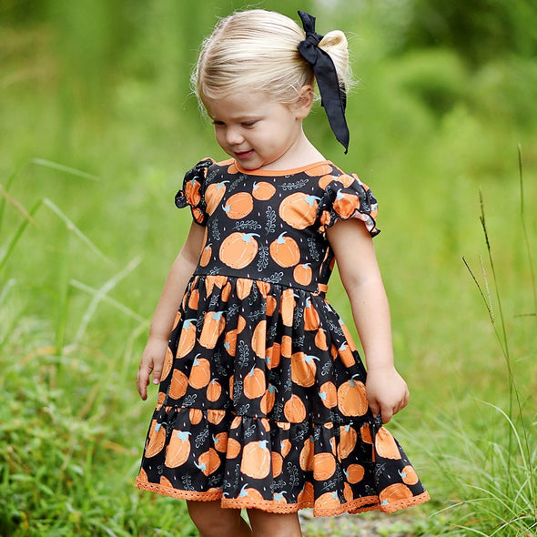 Market Dress - Pumpkin Patch