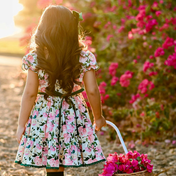 Market Dress - Pink Blooms