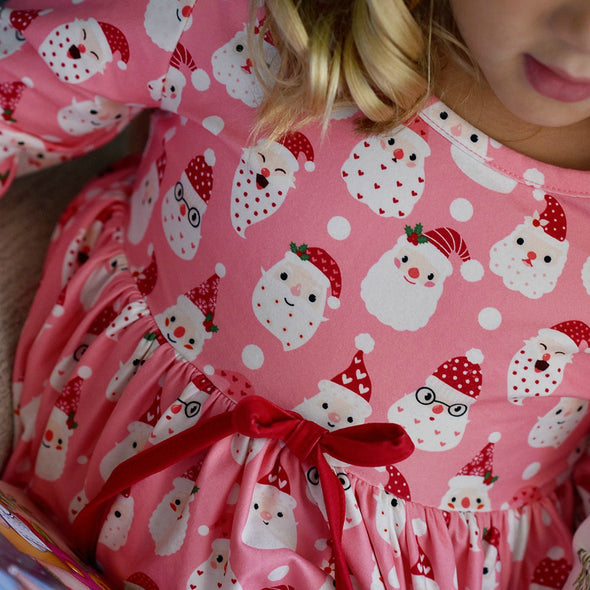 PREORDER - Girl's Lounge Gown in SANTA