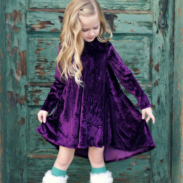 Sugar Plum Velvet Dress
