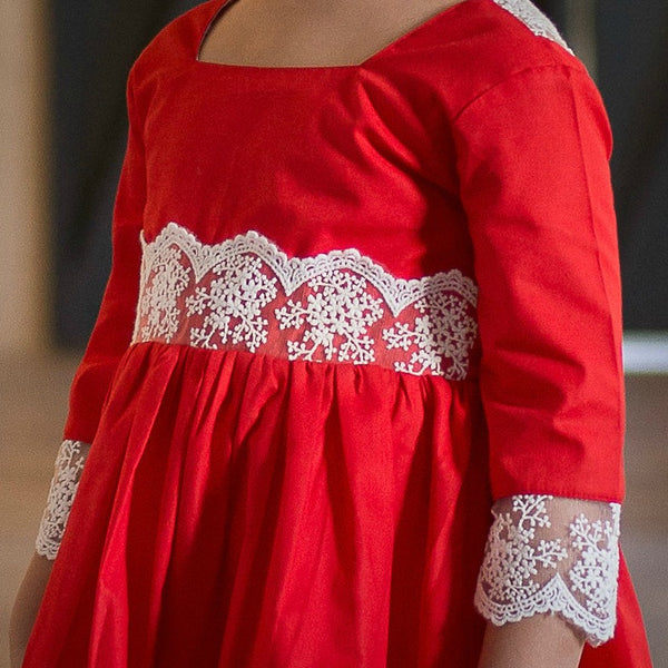 Merry & Bright Dress in Berry Red