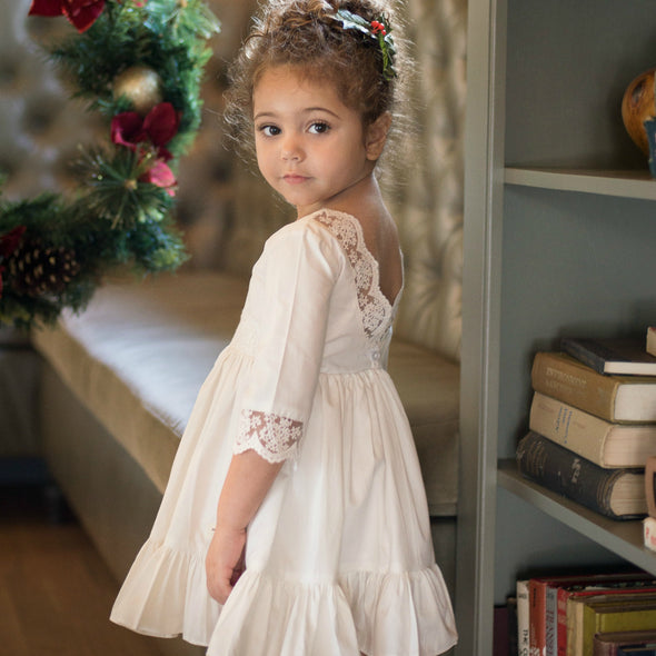 Merry & Bright Dress in Winter White