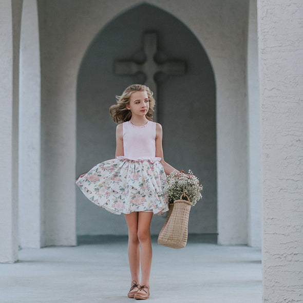 Easter Sunday Linen Peplum Dress
