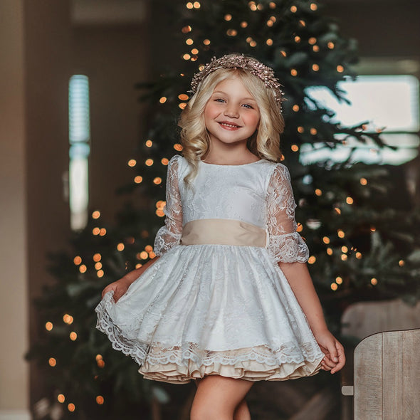 PREORDER Angelic Lace Christmas Dress