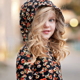 Watercolor Floral Hooded High Low Dress