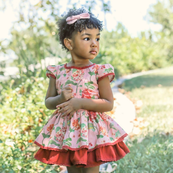 Pink Hydrangea Sienna Dress Set