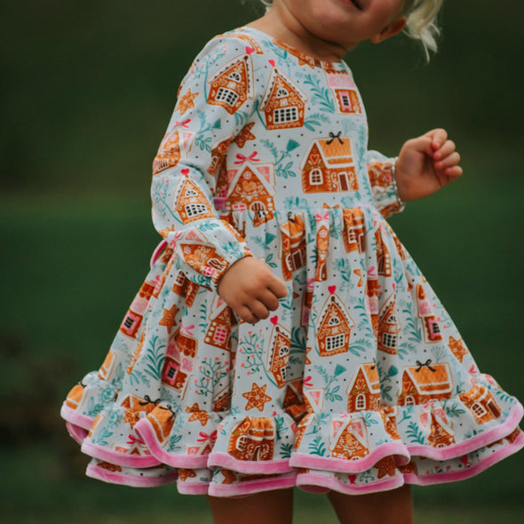 PREORDER Market Dress - Gingerbread House