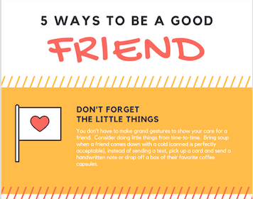 Infographic: Be A Good Friend