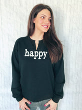 happy days black pullover