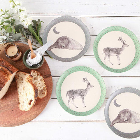bamboo-dinnerware-4-pack-plates-bear-deer