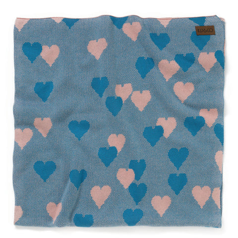 Kip & Co - Lover Teal Baby Blanket