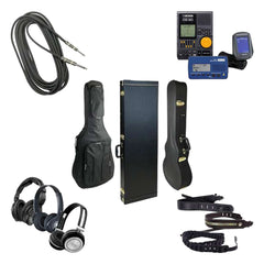 Electric Bass Guitar Accessories Instrument Cable Tuner Case Gig Bag Headphones