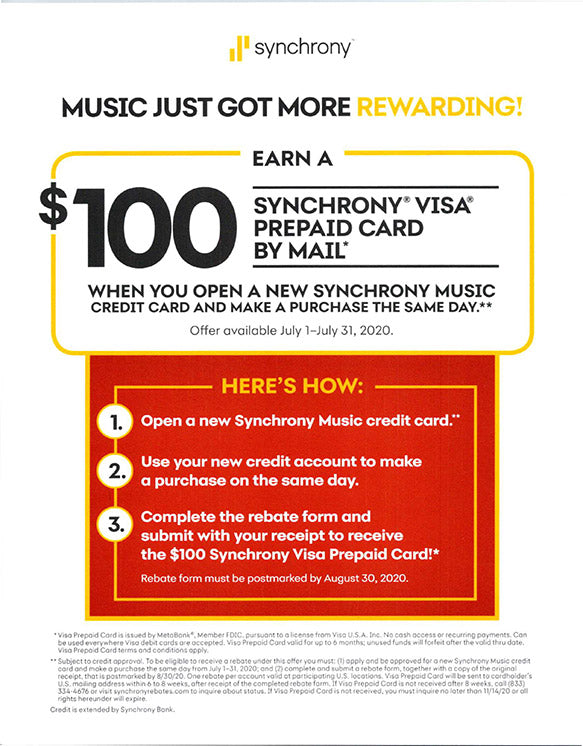 $100 Synchrony Visa Card by Mail