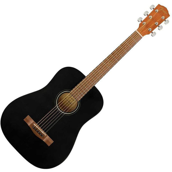 Fender FA-15 3/4 Size Acoustic Guitar With Bag-Black-Andy's Music