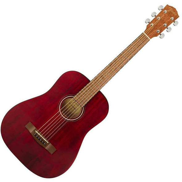Fender FA-15 3/4 Size Acoustic Guitar With Bag-Red-Andy's Music