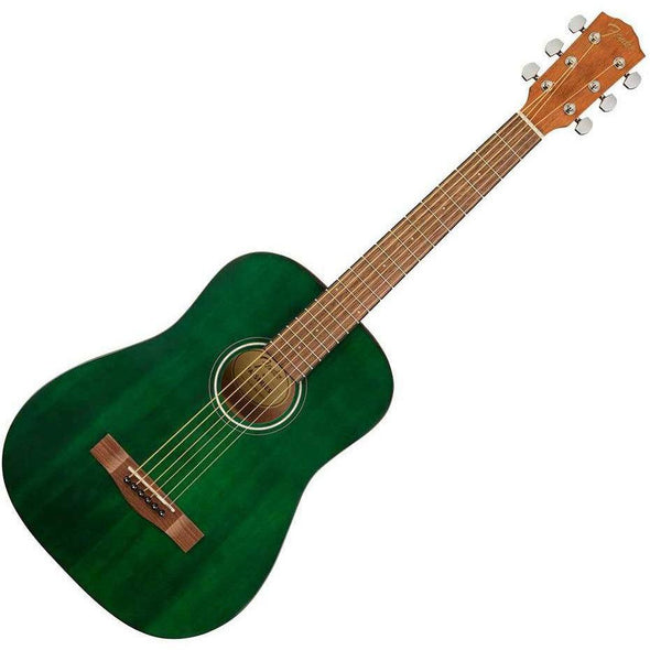 Fender FA-15 3/4 Size Acoustic Guitar With Bag-Green-Andy's Music