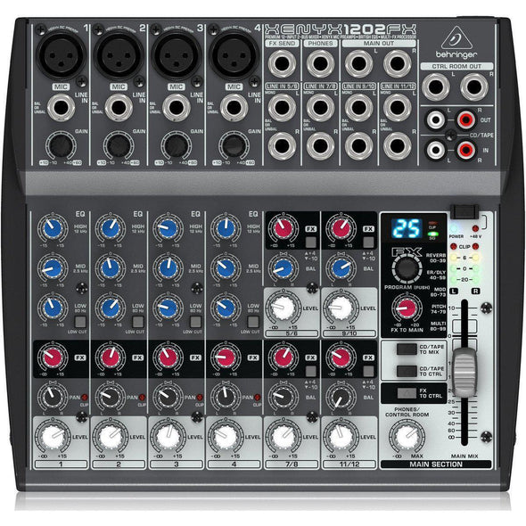 Behringer XENYX 1202FX 12-Input Mixer With Effects - Andy's Music