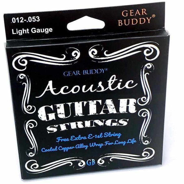 Gear Buddy 1946 Coated Acoustic Guitar Strings - Light Gauge