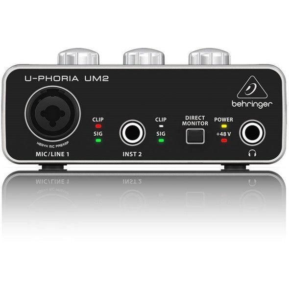 Behringer UM2 USB 2x2 U-PHORIA Audio Interface - Andy's Music
