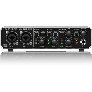 Behringer UMC204HD Audio/MIDI Interface 2 In/4 Out