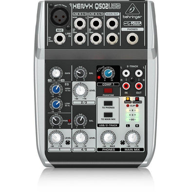 Behringer XENYX Q502USB Mixer & USB Audio Interface - Andy's Music