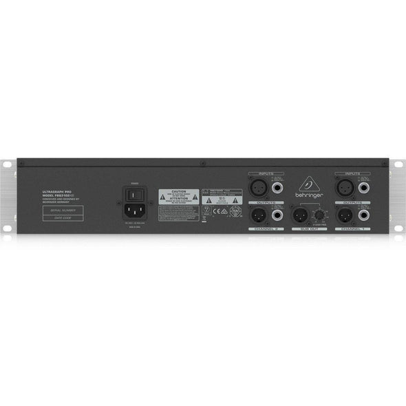 Behringer FBQ3102HD Rack Mount 31-Band Graphic EQ with FBQ Feedback Detection