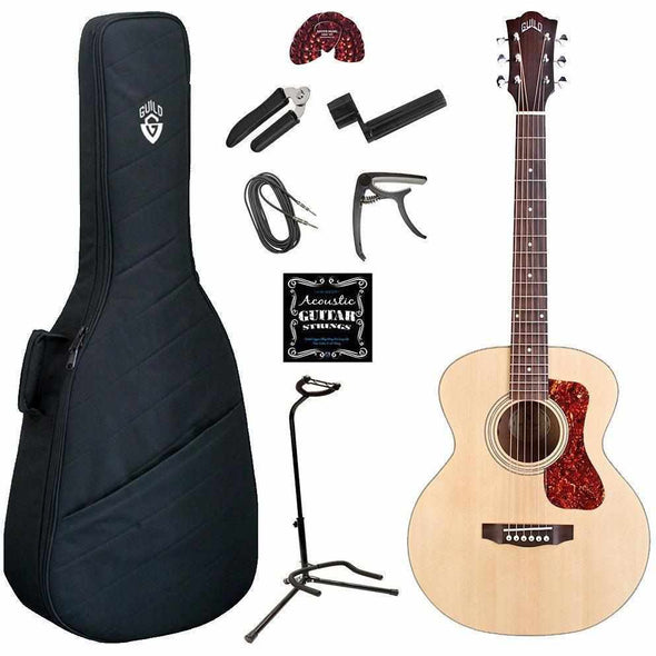 Guild Jumbo Junior Acoustic Electric Guitar Deluxe Bundle