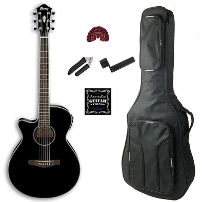 Ibanez AEG10LIIBK Left-Handed Acoustic Electric Guitar - Andy's Music