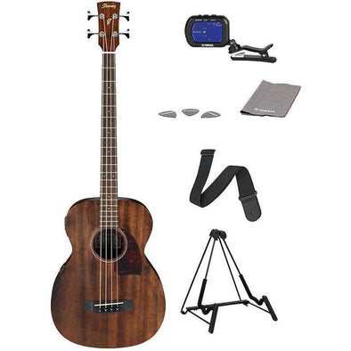 Ibanez PCBE12MH Acoustic Electric Bass Guitar With Free Accessories - Andy's Music