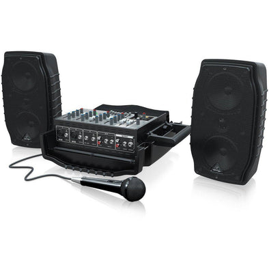 PPA200 Compact 200-Watt 5-Channel Powered All-In-One PA System