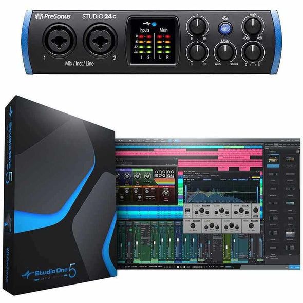 PreSonus Studio 24c USB Audio Interface & Studio One Artist Software
