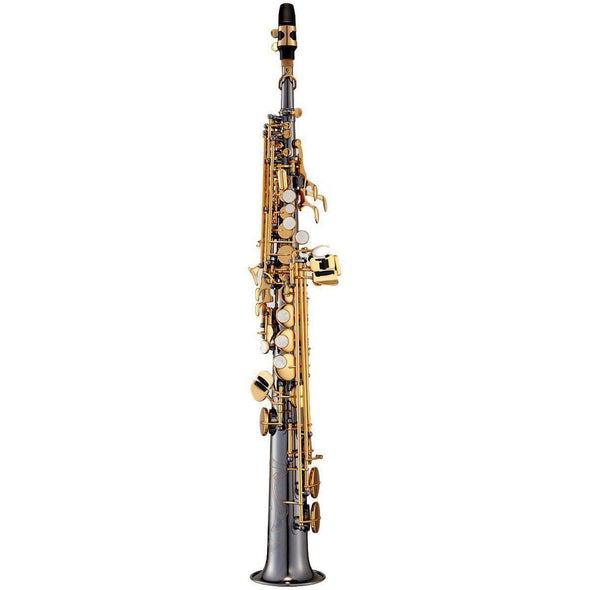 Antigua SS4290BN Powerbell Bb Soprano Saxophone - Black Nickel Finish - Andy's Music